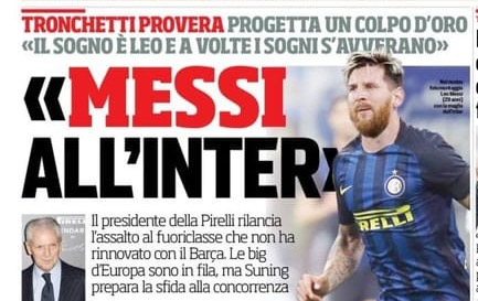 L'Inter creerà una squadra stellare, con o senza Messi. I fans dell'Inter di Facebook non accettano i sogni e iniziano a offenderti