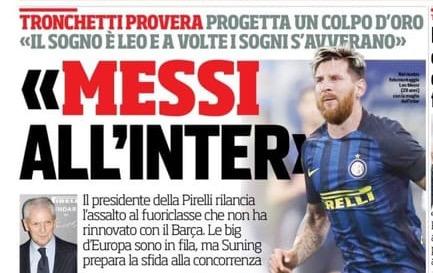 L'Inter creerà una squadra stellare, con o senza Messi. I fans dell'Inter di Facebook non accettano i sogni e iniziano aoffenderti