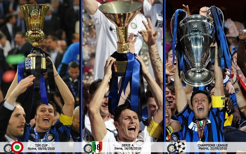 Le trasmissioni sportive insistono ancora sul Triplete dell'Inter, paragonando la squadra di Mourinho alla Juve delle 7 (sette) finali perse di ChampionsLeague